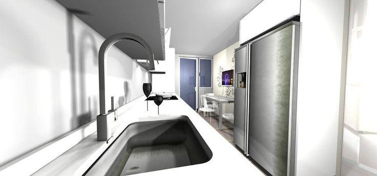Un gustazo el ver como quedaría tu cocina, verdad??   #diseñodecocinasmadrid #infografias #mueblesdecocina