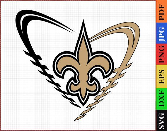 SVG files, New Orleans Saints, NFL for printing, New ...