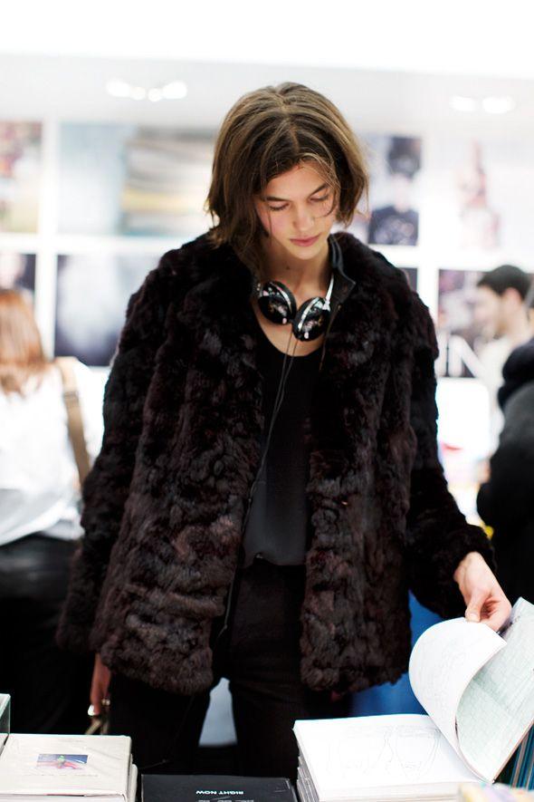 On the Street & Inside Colette, Paris - The Sartorialist | Black fur coat
