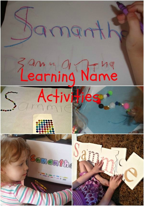 Name learning activities great ways to