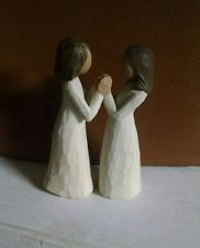 Willow Tree-hermanas de corazón, cerrado y las manos abiertas - 2000-Sin Caja
