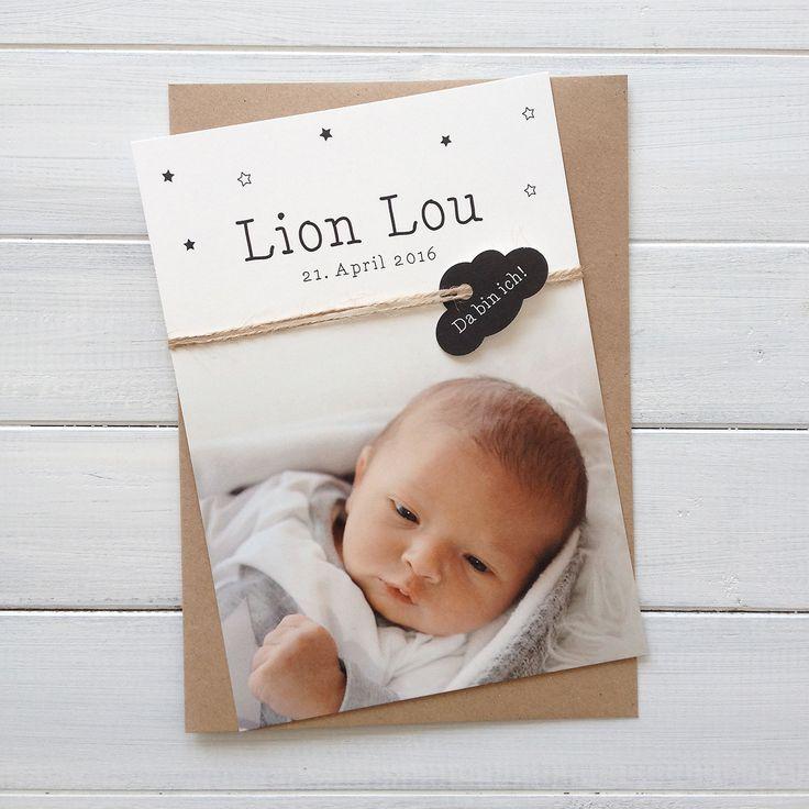 Birthannouncement - Lion Lou - Baby Boy - Geburtskarte - Geboortekaart - Geboortekaartje