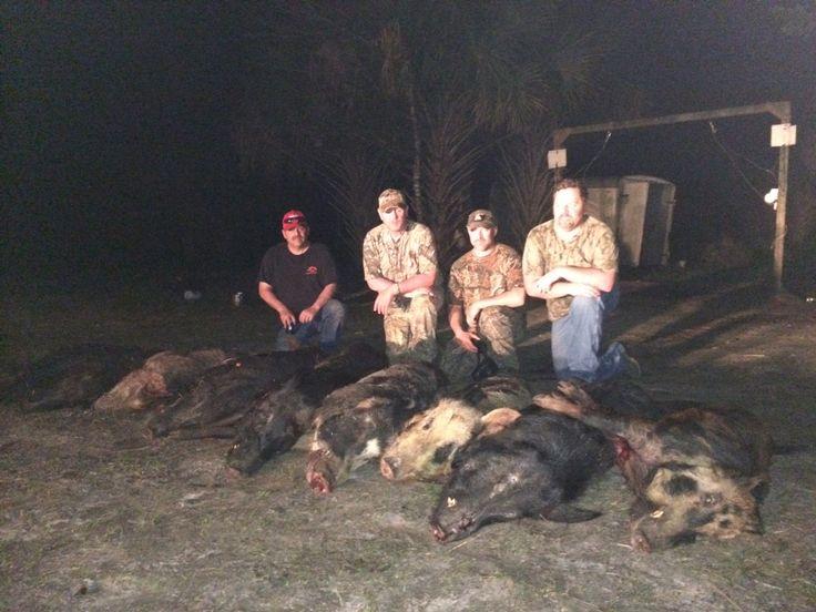 Me and my buddies hog hunting in Florida