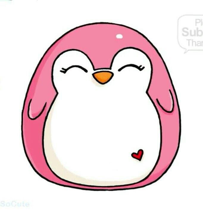 Pingwinek Cute Kawaii Drawings Cute Easy Drawings Kawaii Doodles