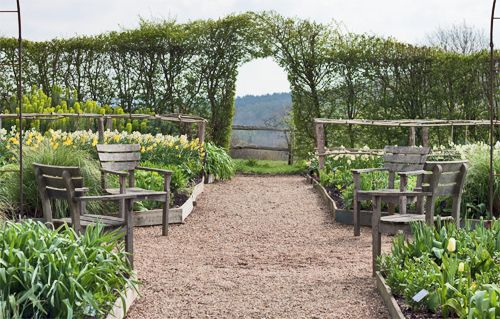 The cutting garden in April