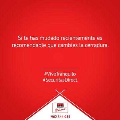 Si te has mudado recientemente es recomendable que cambies la cerradura #ViveTranquilo