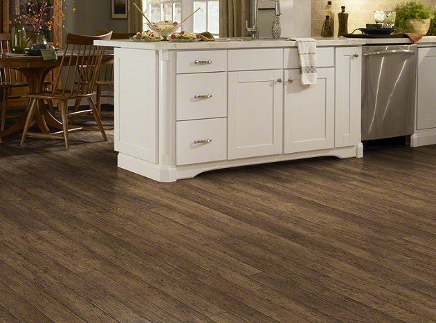 """Laminate Flooring in the HGTV HOME Flooring by Shaw collection in style """"La Terazza"""" color Antigua Kupay."""