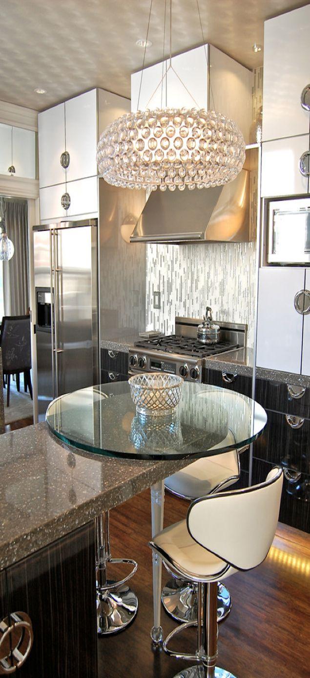 Contemporary chic decor - Glamorous Modern Chic Kitchen