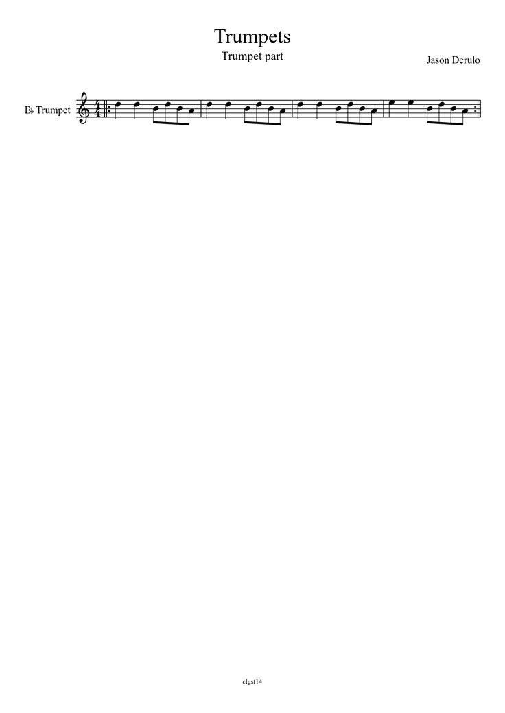 Jason Derulo - Trumpets trumpet sheet music