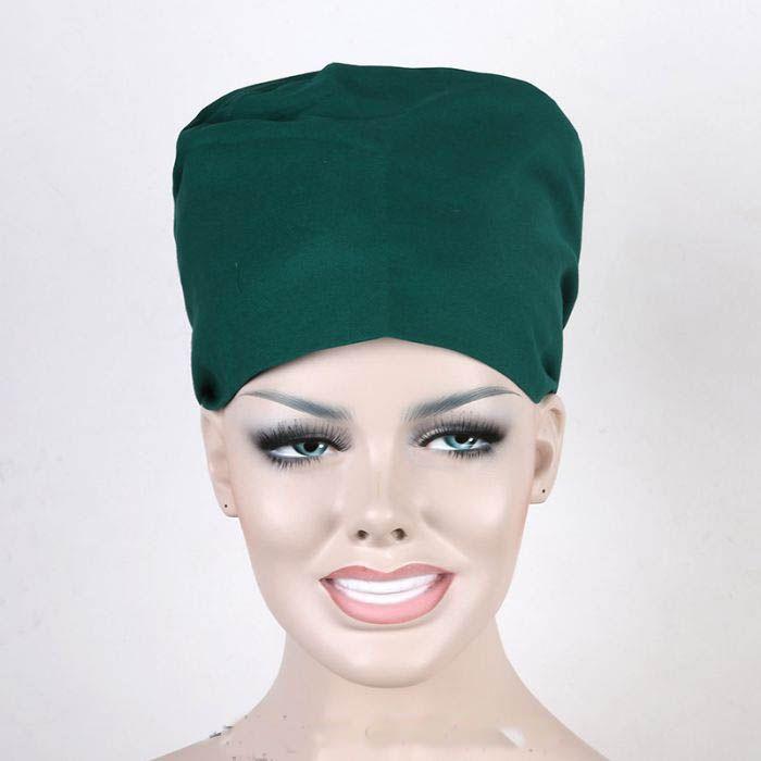 2017 Green Color 100% Cotton Hospital Uniform Cap Medical Doctors Nurses Surgical Caps Lab Coat Cap Dental Clinic Workwear Caps