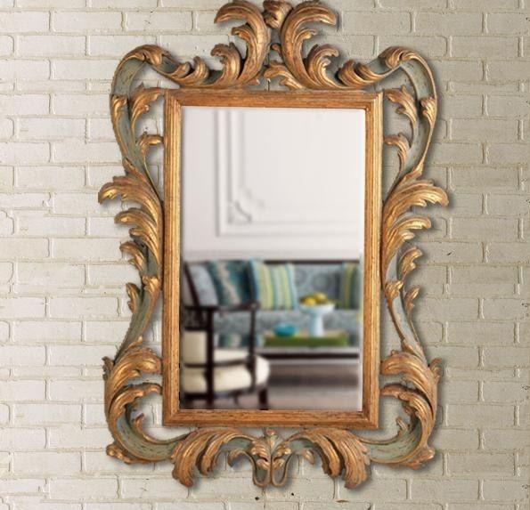 Старинное-зеркало-в-резной-раме