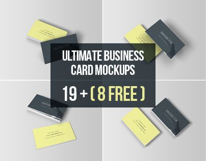 239 best download mockups images on pinterest miniatures mock ultimate pack of free psd smart object business card mockup templates reheart Images