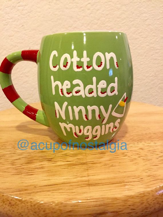 14oz. Cotton headed ninny muggins Buddy the Elf by aCupofNostalgia
