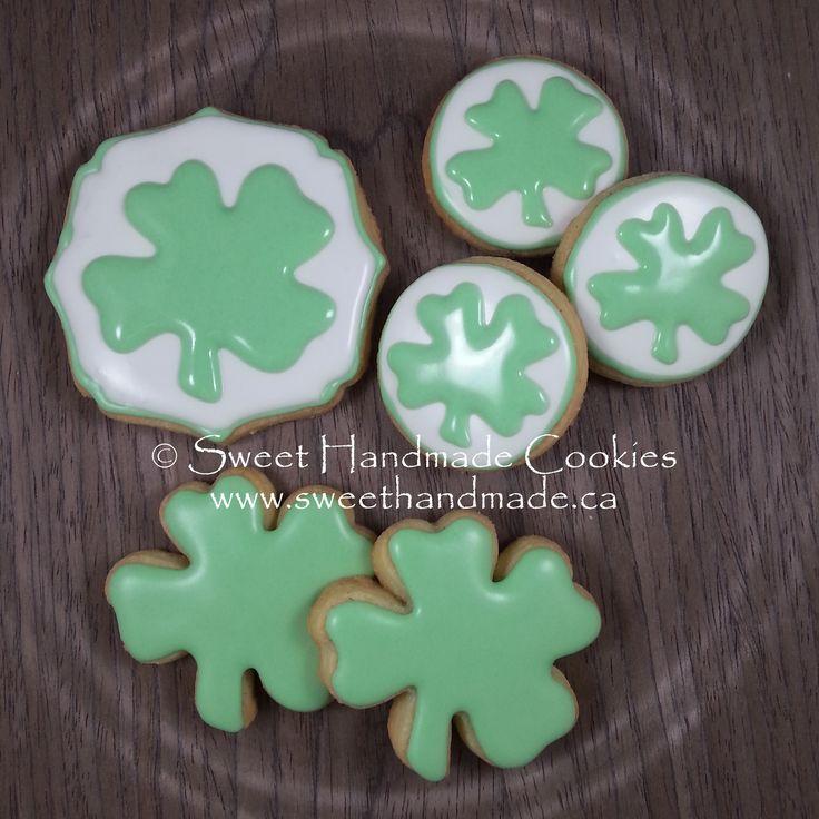 Sweet Handmade Cookies: st. patrick's shamrock cookies
