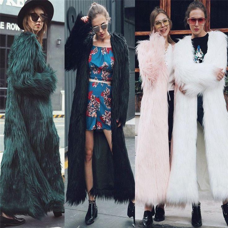 Long Fur Coat Women <b>2018 Winter New</b> Design Long <b>Style</b> ...