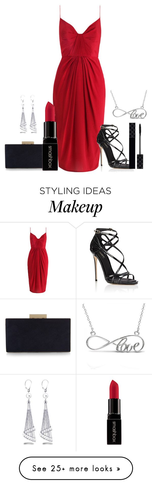 """""""Untitled #107"""" by cocolouise22 on Polyvore featuring Zimmermann, Dolce&Gabbana, Gucci, Monsoon, Smashbox and Allurez"""