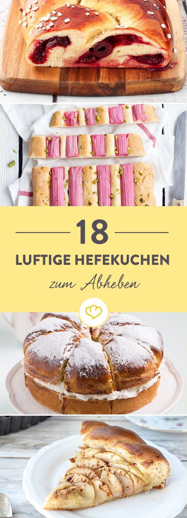 So luftig, so fluffig, so lecker - Hefekuchen hebt uns auf Wolke 7. Ob als Apfelkuchen, Kirschzopf oder Zwetschgendatschi. Komm mit in den Kuchenhimmel!