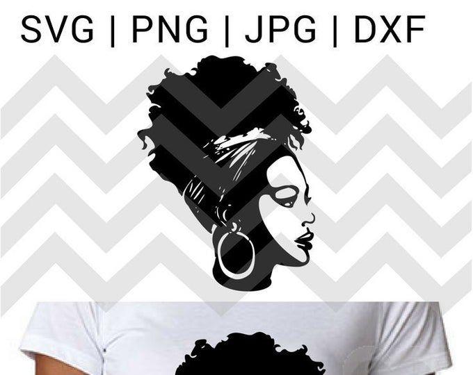 African American Woman Svg Black girl svg Black woman svg files for cricut Black woman png Black woman clipart Nubian Black woman svg