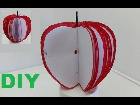 How to Make 3D Apple Memo Notes - Red Apple Fruit Memo Notepad
