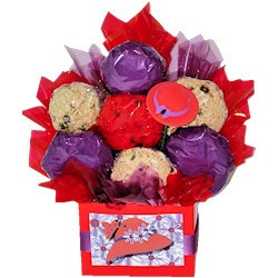 red hat society cookie bouquet