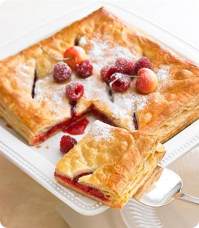 NO FUSS FRUIT PIE--made with puff pastry sheets: Fruit Pies Recipes, Pastries Sheet, Pastries Pies, Fruit Pie Recipes, Fruit Pies Mad, Puff Pastries, Fuss Fruit, Pies Tarts Cobbl, Pies Fillings