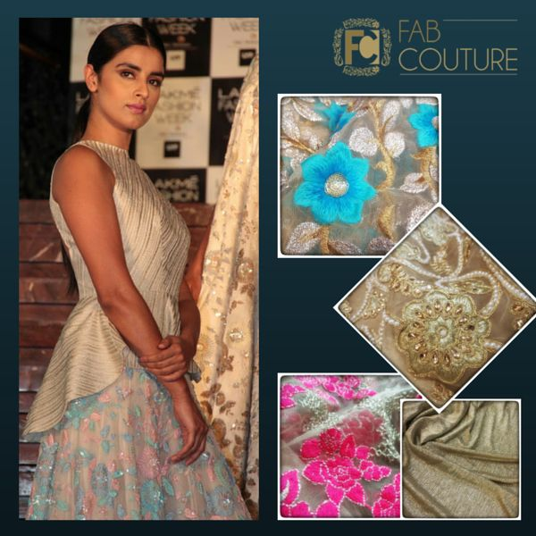 Fall in love with Manish Malhotra's Spring collection, easy to have one of your own with Fab Couture!! #FabCouture #ManishMalhotra #SpringCollection #Spring #DesignerWear #DesignerFabric