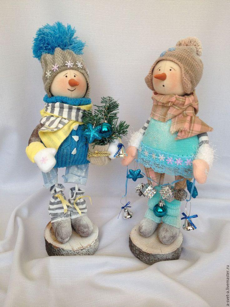 Купить Снеговик 2017( 2) - голубой, бирюзовый, новый год 2017, подарок на новый год 2017, снеговик