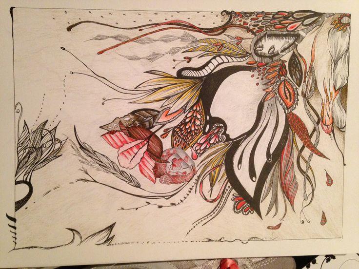 Floral storm colour doodle