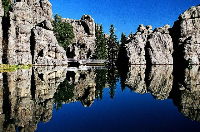 Sylvan Lake, Custer State Park, South Dakota, it really is this beautiful there, nice hiking trails all around it.