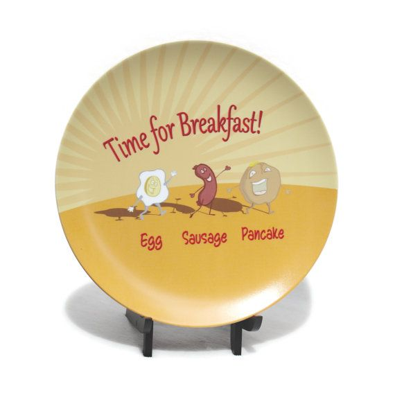 Breakfast Plate - Egg Sausage & Pancake Plate - Time for Breakfast