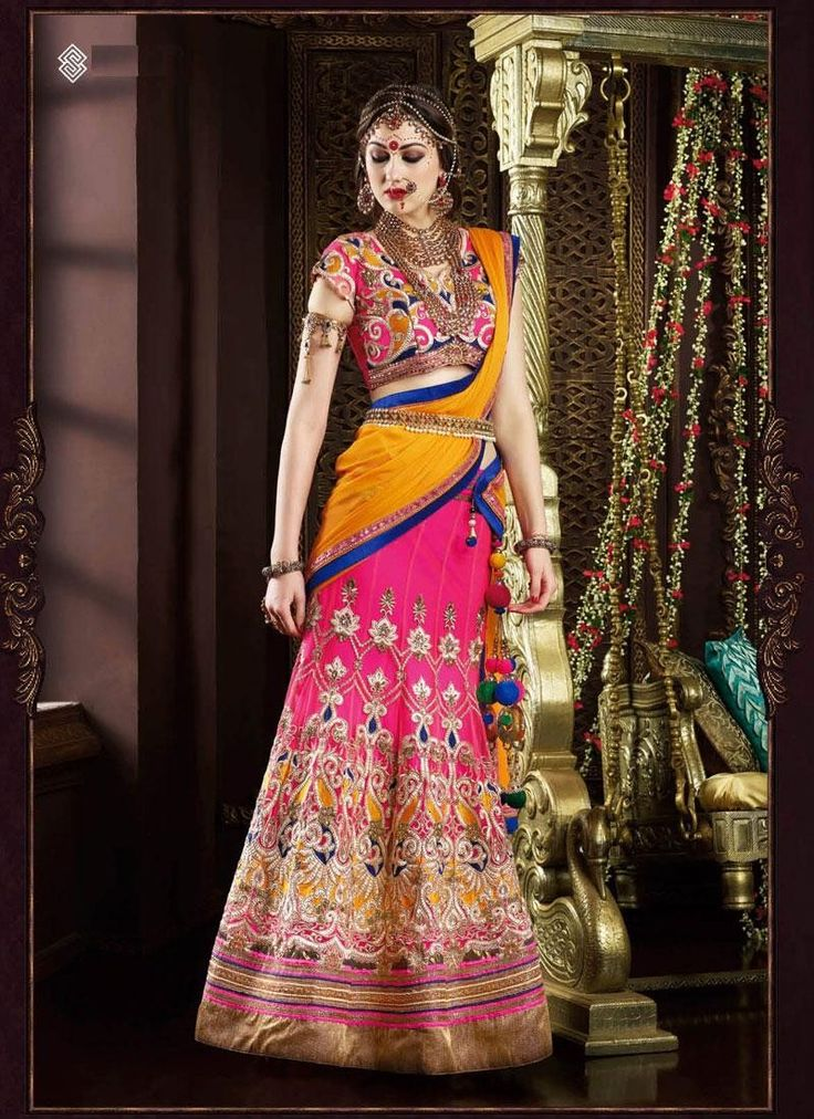 Buy Pink Net #Lehenga For only Rs.5,261 from Godomart Online Shopping Store India. Visit for More Info: http://bit.ly/1U8h8m4