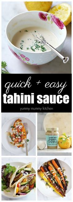 This easy vegan tahini sauce requires just a few simple ingredients. It adds creaminess and flavor to wraps, veggies, falafel, salads, and more.