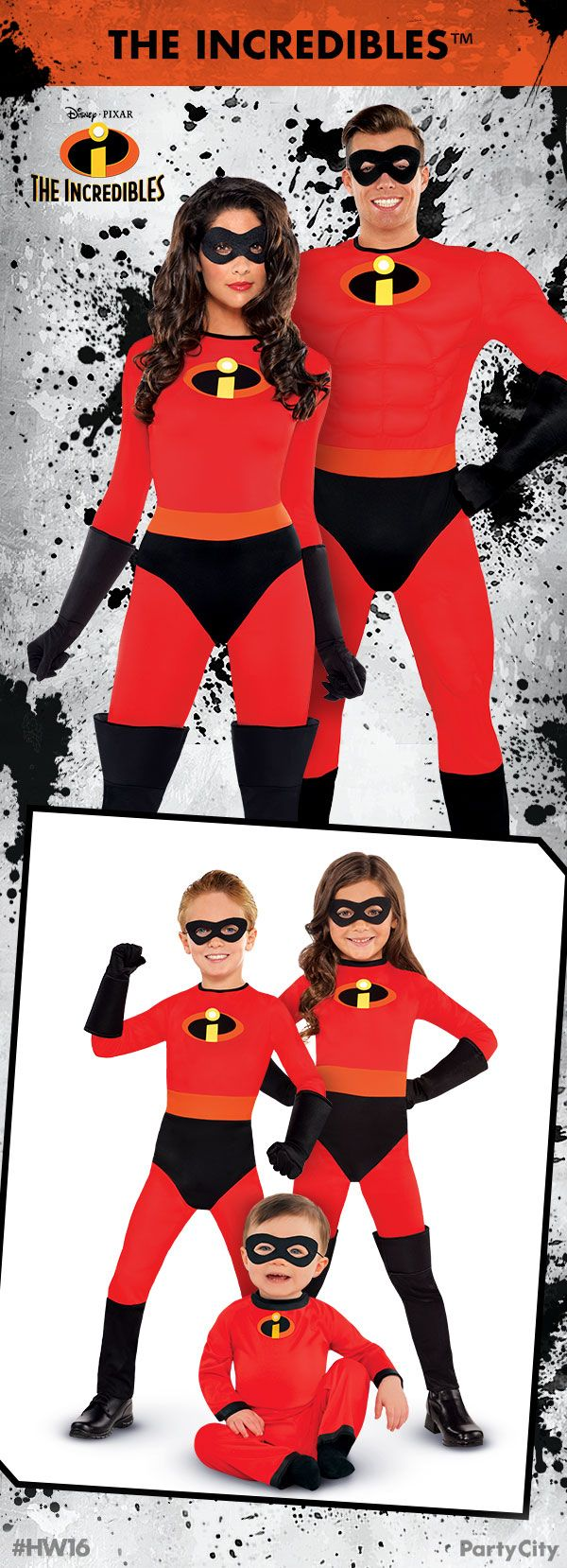 Get your Incredibles costumes for the whole family from Party City!