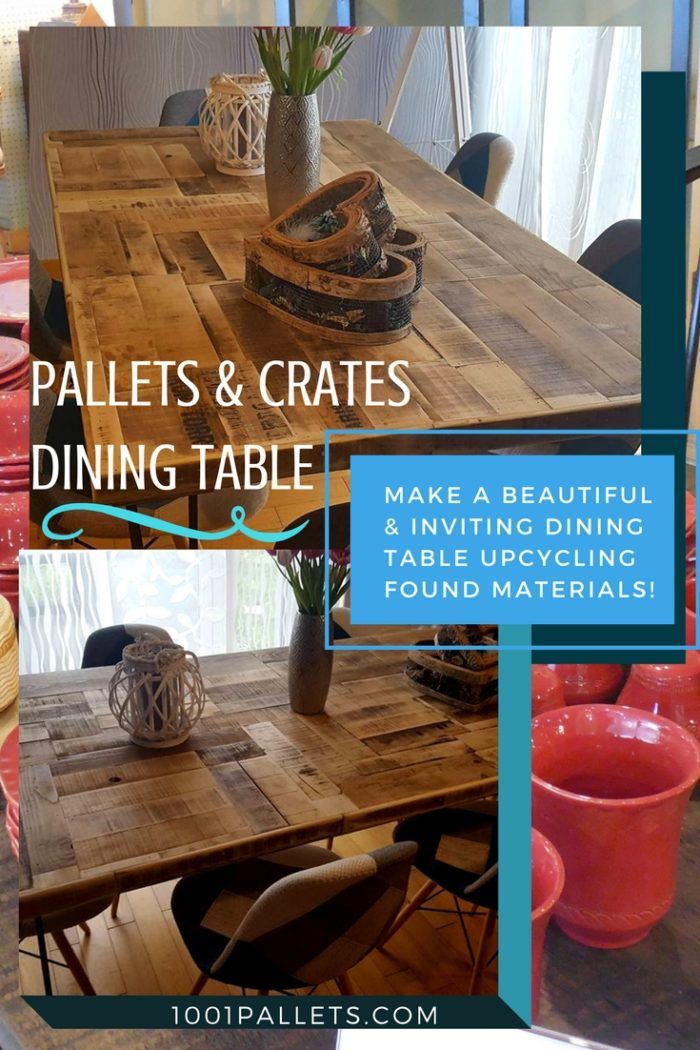 how to make a tabletop from pallets