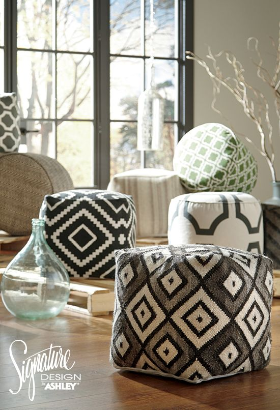Accent Poufs   Ashley Furniture