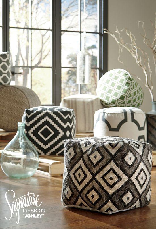 Accent Poufs - Ashley Furniture