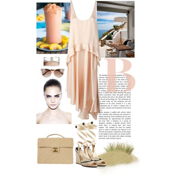 peach and sand by violavintage on Polyvore featuring polyvore fashion style STELLA McCARTNEY Paul Andrew Chanel Alexander McQueen Gucci