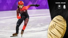 Samuel Girard has captured his first career Olympic medal, taking gold in short track speed skating's 1000m. This is Canada's first...
