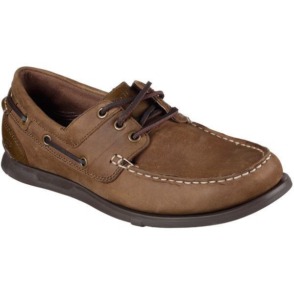 Skechers Men's Relaxed Fit: Eris - Sebos Natural - Skechers ($59) ❤ liked on Polyvore featuring men's fashion, men's shoes, men's loafers, natural, sperry top sider mens shoes, mens topsiders, skechers mens shoes, mens shoes and mens lace up shoes
