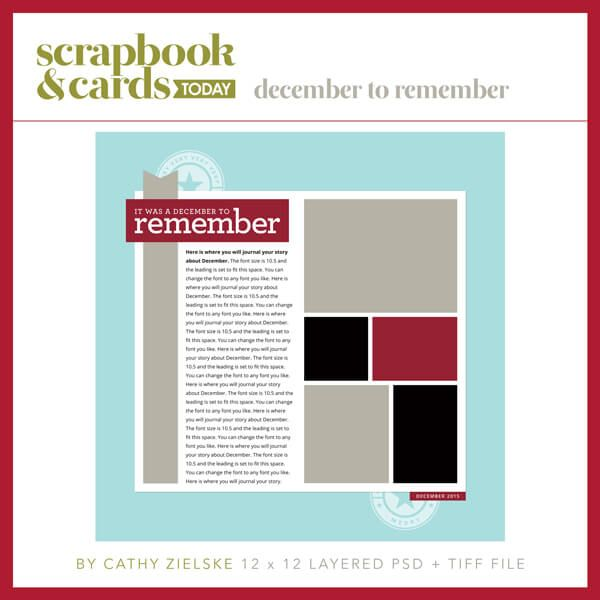 December to Remember Template by Cathy Zielske