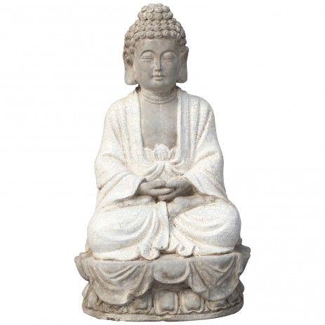 zen spiritual grey ceramic buddha sitting l ptmd decoratie idee n pinterest. Black Bedroom Furniture Sets. Home Design Ideas