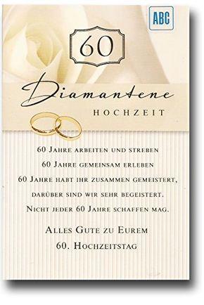 Bildergebnis Fur Diamantene Hochzeit Spruche Deko