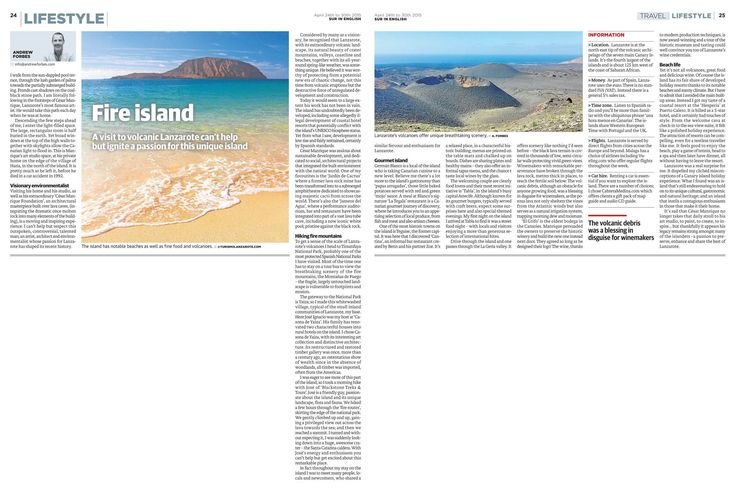 Lanzarote - travel feature on the fire island  www.andrewforbes.com #lanzarote #canaries