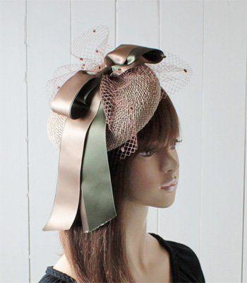 (ティールブルー) Tirer Bleu 日本製 ベール付きストローカクテルハット TY602 ベージュ トーク帽 フォーマル パーティー 冠婚葬祭 レディース 女性 婦人 帽子