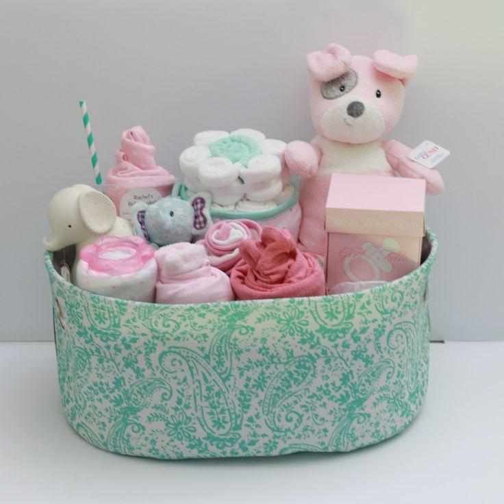 Baby Girl Gift Basket, Baby Shower Gift, Newborn Gift, Unique Baby Gift  Basket