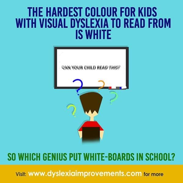 Many parents call it 'visual dyslexia'. It is more accurately called 'visual stress' or 'irlen syndrome'. Do everything you can to prevent your kids reading from white paper, whiteboards, and bright white screen backgrounds if your child is dealing with this. Note that this is separate from phonological dyslexia - changing colours won't help kids with phonological dyslexia. #Motivation #Learning #Children #Dyslexia