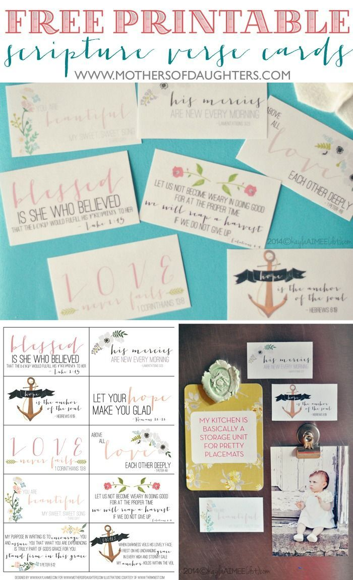 Free Printable Scripture Verse Encouragement Cards (+ a tutorial for making your own magnets!):