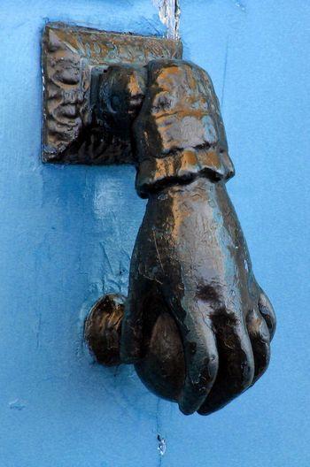 French Door Knocker: Hand of Fatima