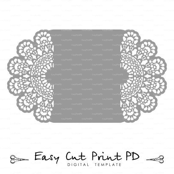 Lace crochet doily Wedding invitation 5x7 Rustic Pattern