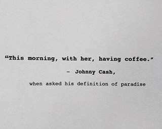 Poetic even in one simple sentence. #johnnycash